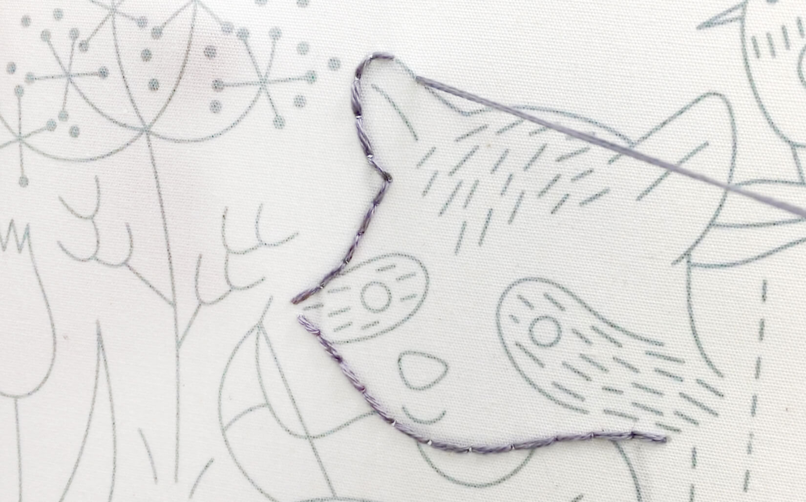 If you can color, then you can embroider. Free Stitching Raccoon Sampler embroidery pattern