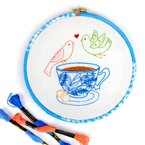 Drinks for 2 pdf embroidery pattern digital download