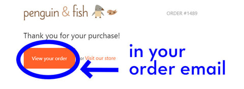 download button on order email