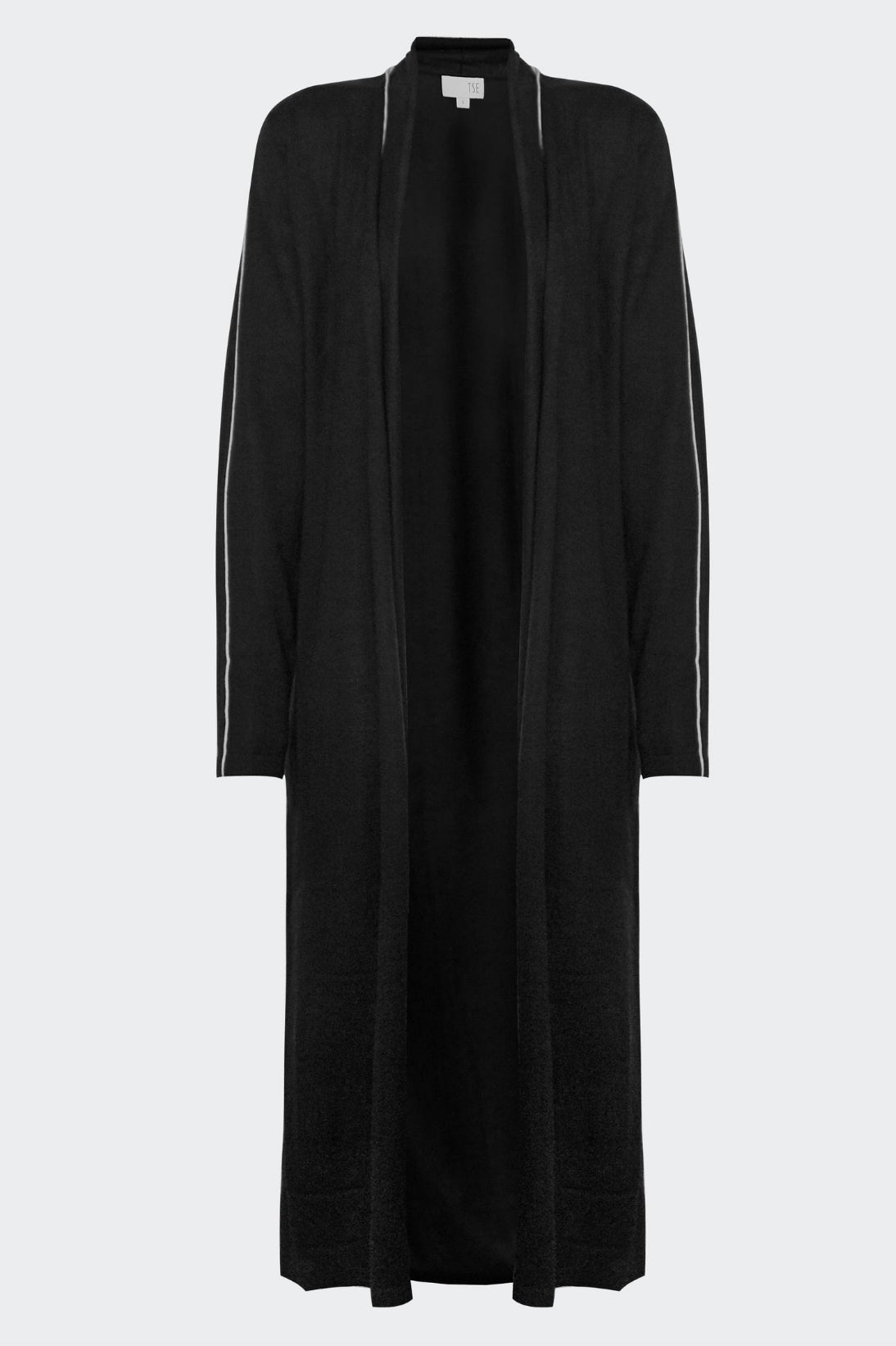 LONG CARDIGAN W/ TIPPING