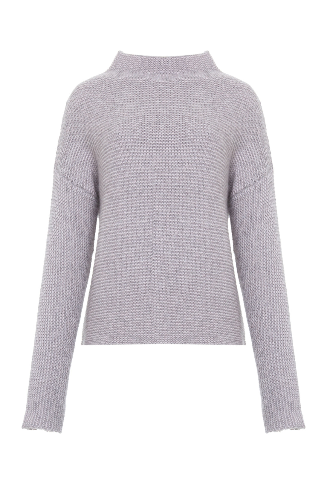 CASHMERE LINKS STITCH MOCKNECK