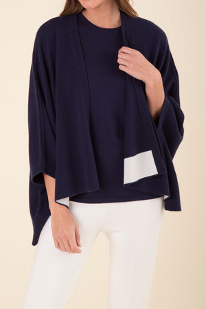 CASHMERE EASY WRAP CARDIGAN