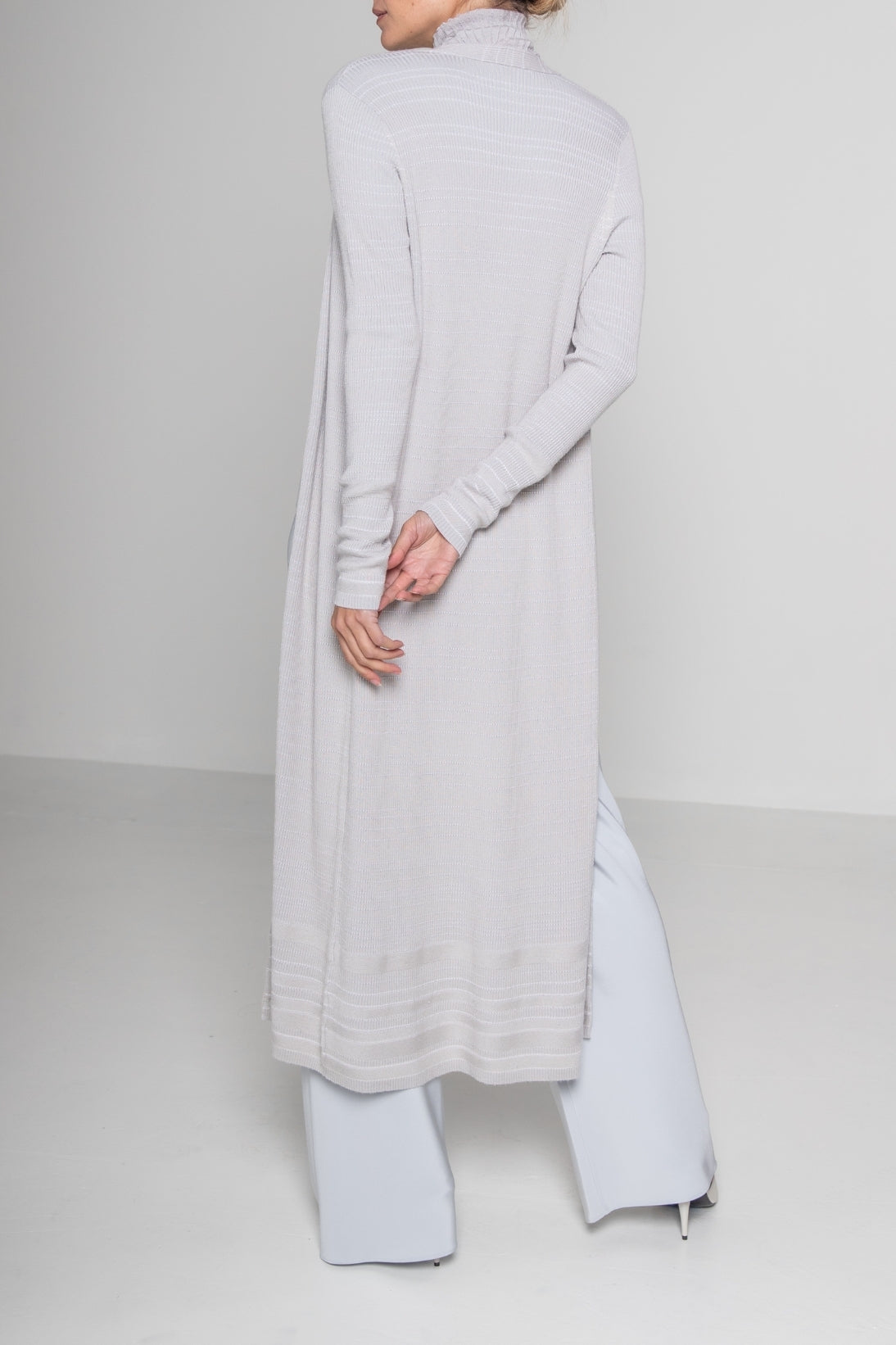 SUPERFINE RIB LONG CARDIGAN