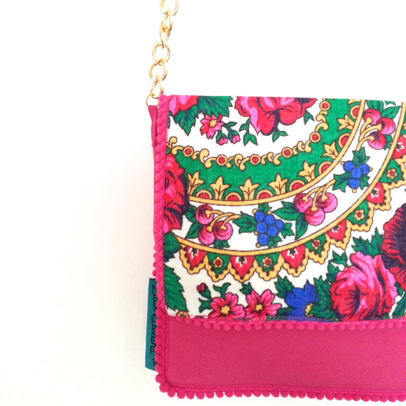Little Farasha Floral Bag (White)