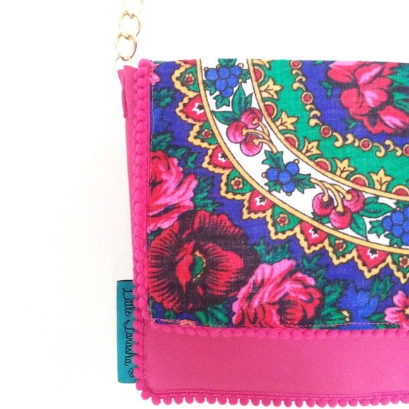 Little Farasha Floral Bag (Blue)
