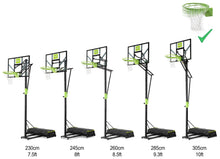 Load image into Gallery viewer, EXIT Polestar portable basketballboard with dunk hoop - green/black