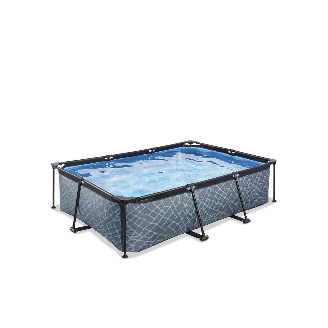 EXIT Stone pool 540x250x100cm with filter pump - grey