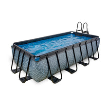 Load image into Gallery viewer, EXIT Stone pool 400x200x100cm, 540x250x100cm with sand filter pump - grey