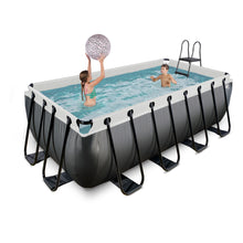 Load image into Gallery viewer, EXIT Black Leather pool 400x200x122cm, 540x250x122cm with sand filter pump - black