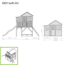 Load image into Gallery viewer, EXIT Loft 550 wooden playhouse