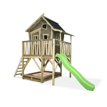 Load image into Gallery viewer, EXIT Crooky 550 wooden playhouse - grey-beige