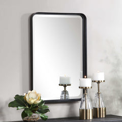 CROFTON BLACK VANITY MIRROR