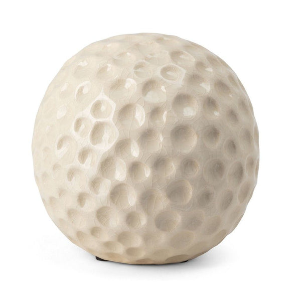 WHITE CERAMIC DECOR BALL