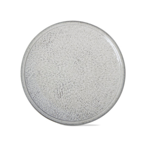 "SOHO REACTIVE GLAZE PLATE 11"" LIGHT BLUE"