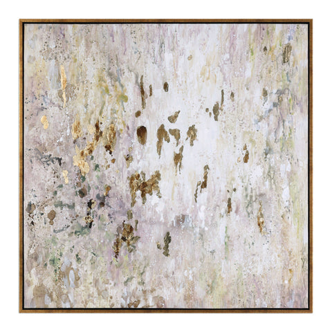 GOLDEN RAINDROPS - HAND PAINTED CANVAS