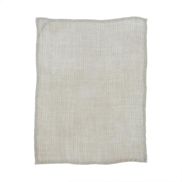 RUSTIC LINEN TEA TOWEL - LT. GREY