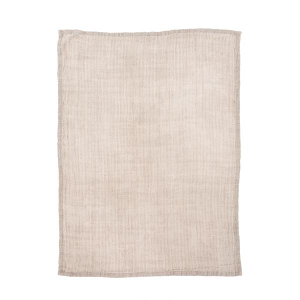 RUSTIC LINEN TEA TOWEL - BLUSH