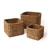 SEAGRASS MINI SQUARE BASKETS