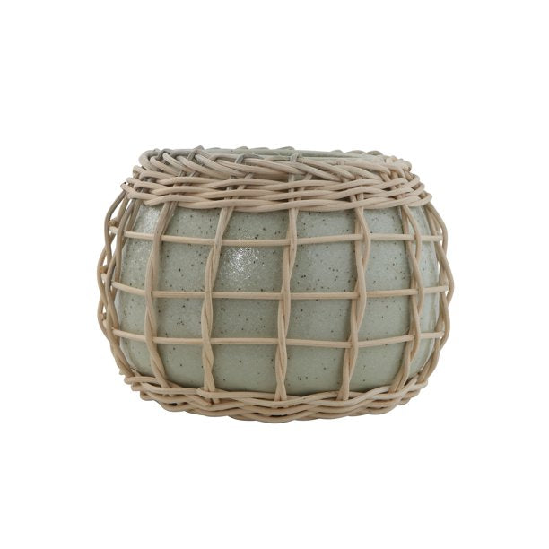SAGE PLANTER W/ BAMBOO WEAVE