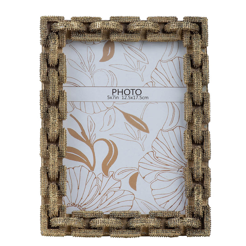 ANTIQUE GOLD CHAIN LINK PHOTO FRAMES