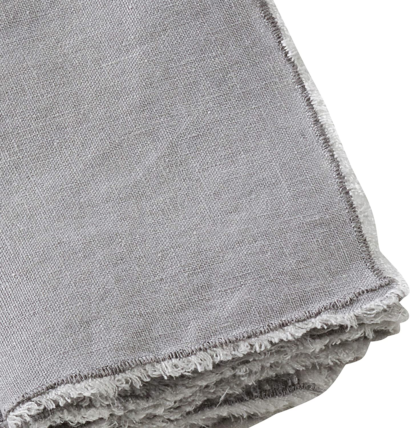 FRINGED NAPKIN - GRAY
