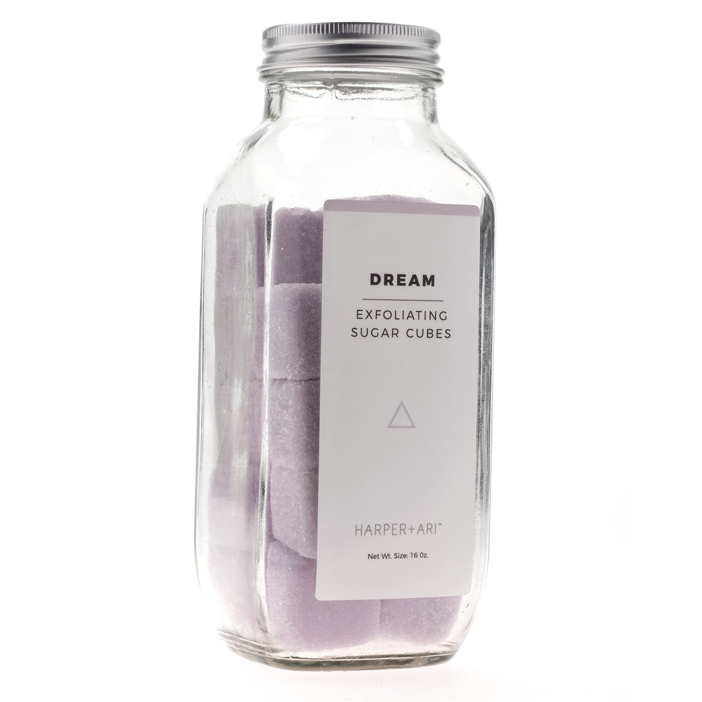 EXFOLIATING SUGAR CUBES IN GLASS BOTTLE