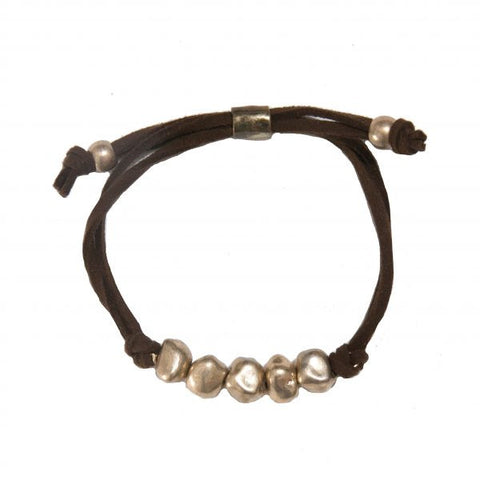 CAMILLE BRACELET IN BROWN LEATHER