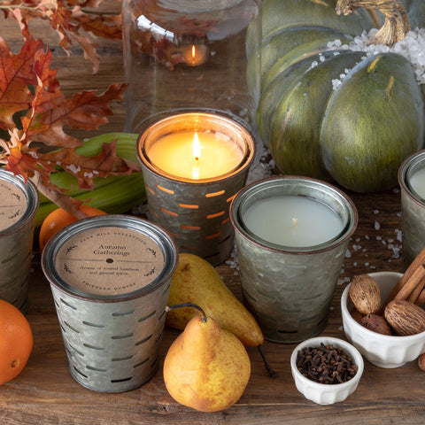 AUTUMN VINEYARD OLIVE BUCKET CANDLE