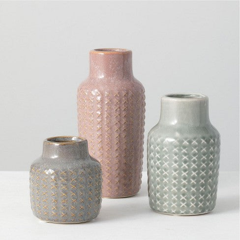 Patterned Multicolor Vases