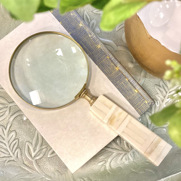 "4"" IVORY MAGNIFYING GLASS"