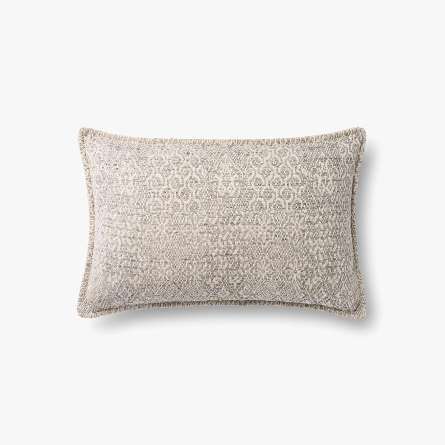GREY PATTERNED PILLOW