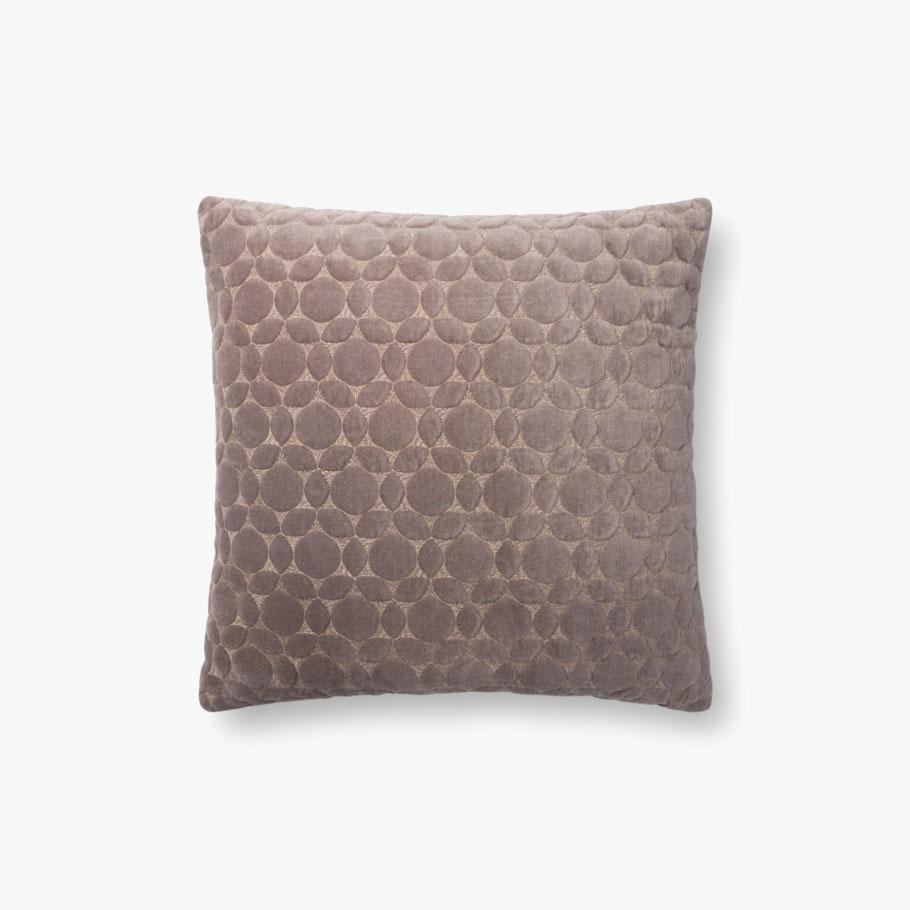 TAUPE GEOMETRIC PILLOW