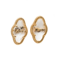 LILY STUD EARRINGS - GOLD/CRYSTAL