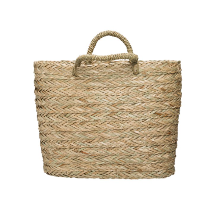 SEAGRASS BASKET WITH HANDLE