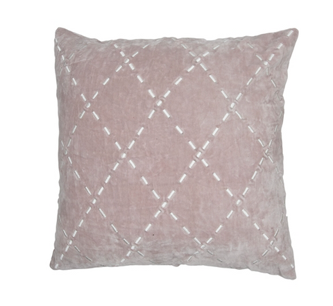 HAND WOVEN ROSE PILLOW