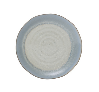 Round Porcelain Plate - Blue