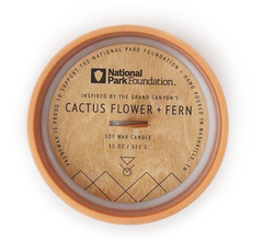 PARKS GRAND CANYON CACTUS FLOWER & FERN CANDLE - 11 OZ.