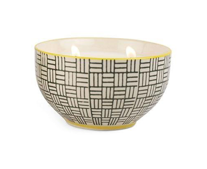 BOHEME BOWL AMBER & BLACK COCONUT -7 OZ.