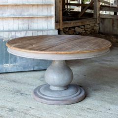 ROUND RECLAIMED WOOD DINING TABLE