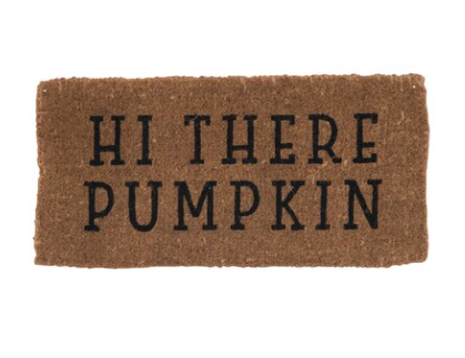HI THERE PUMPKIN DOORMAT