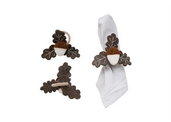 WOOL FELT ACORN NAPKIN RING