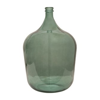 RECYCLED GLASS BOTTLE MOSS GREEN