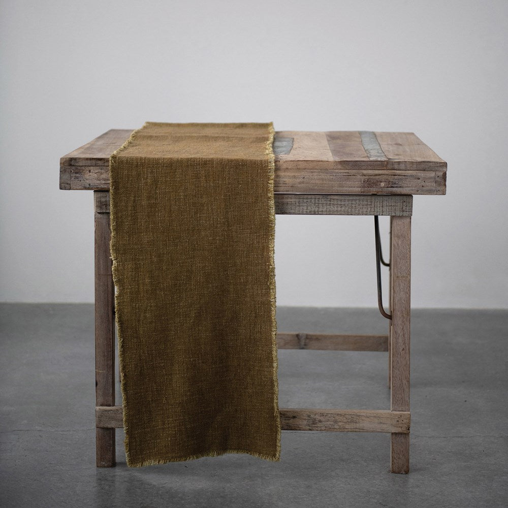 "108""L LINEN TABLE RUNNER, MUSTARD"