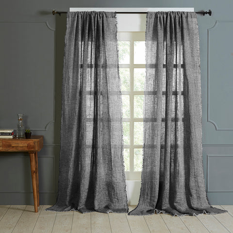 KENT LINEN REVERSIBLE CURTAIN