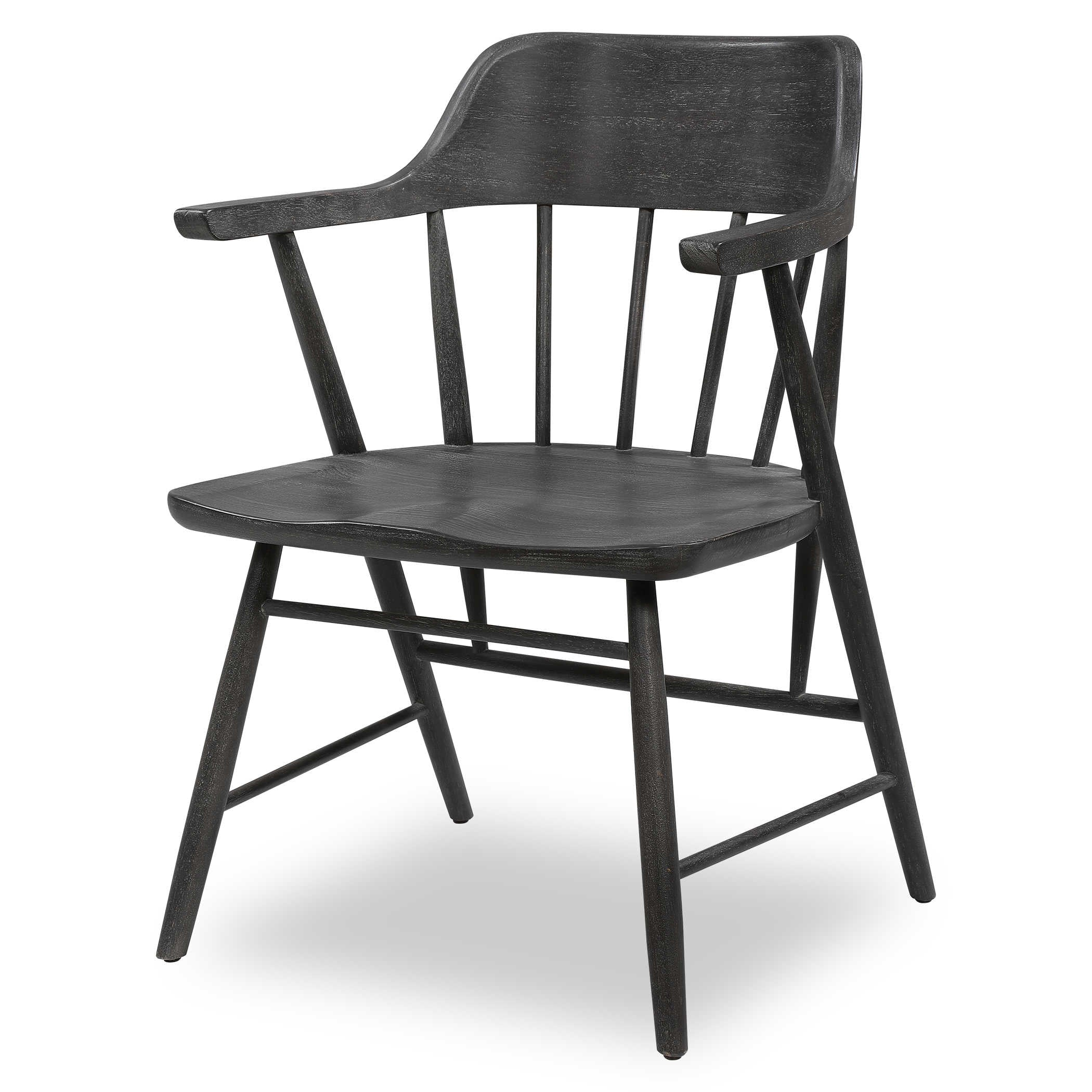 BLACK COLONIAL CHAIR