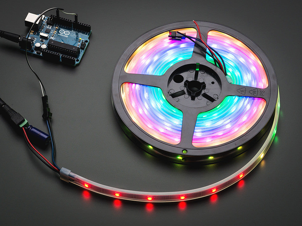 Adafruit NeoPixel Digital RGB LED Weatherproof Strip 30 LED -1m