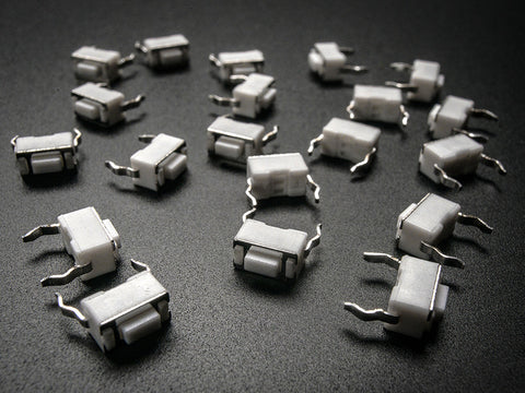 Tactile Switch Buttons (6mm slim) x 20 pack