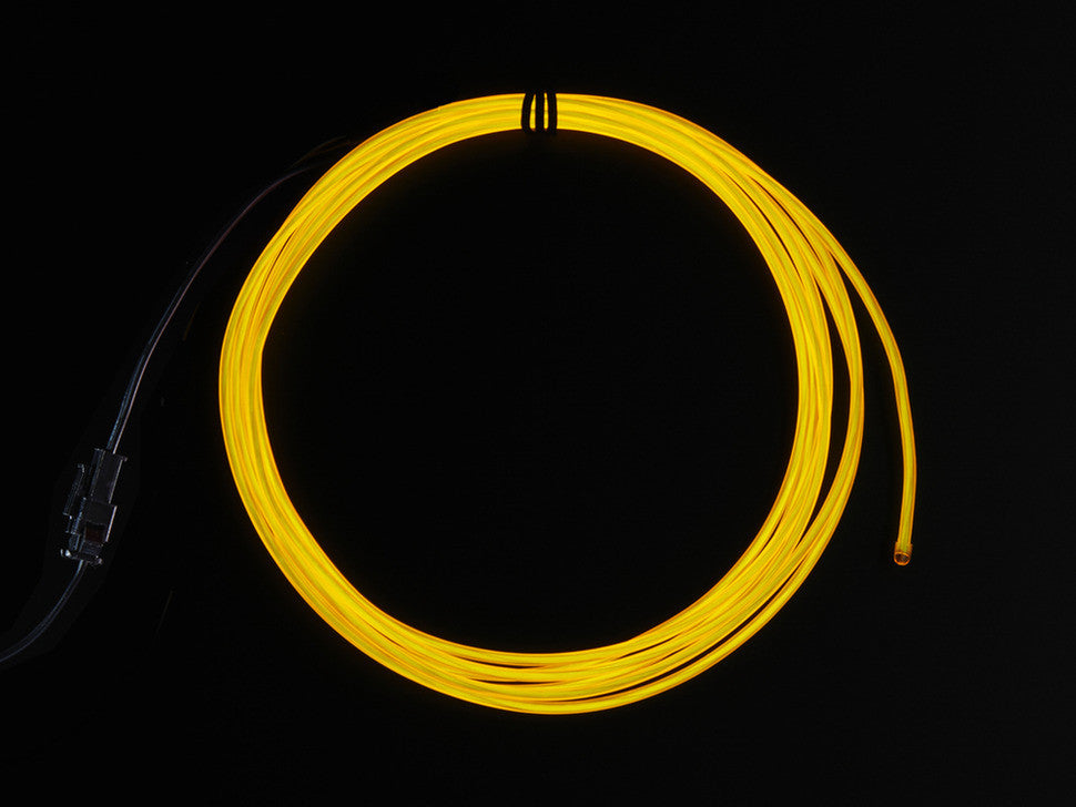 EL wire starter pack - Yellow 2.5 meter (8.2 ft) from Adafruit Industries