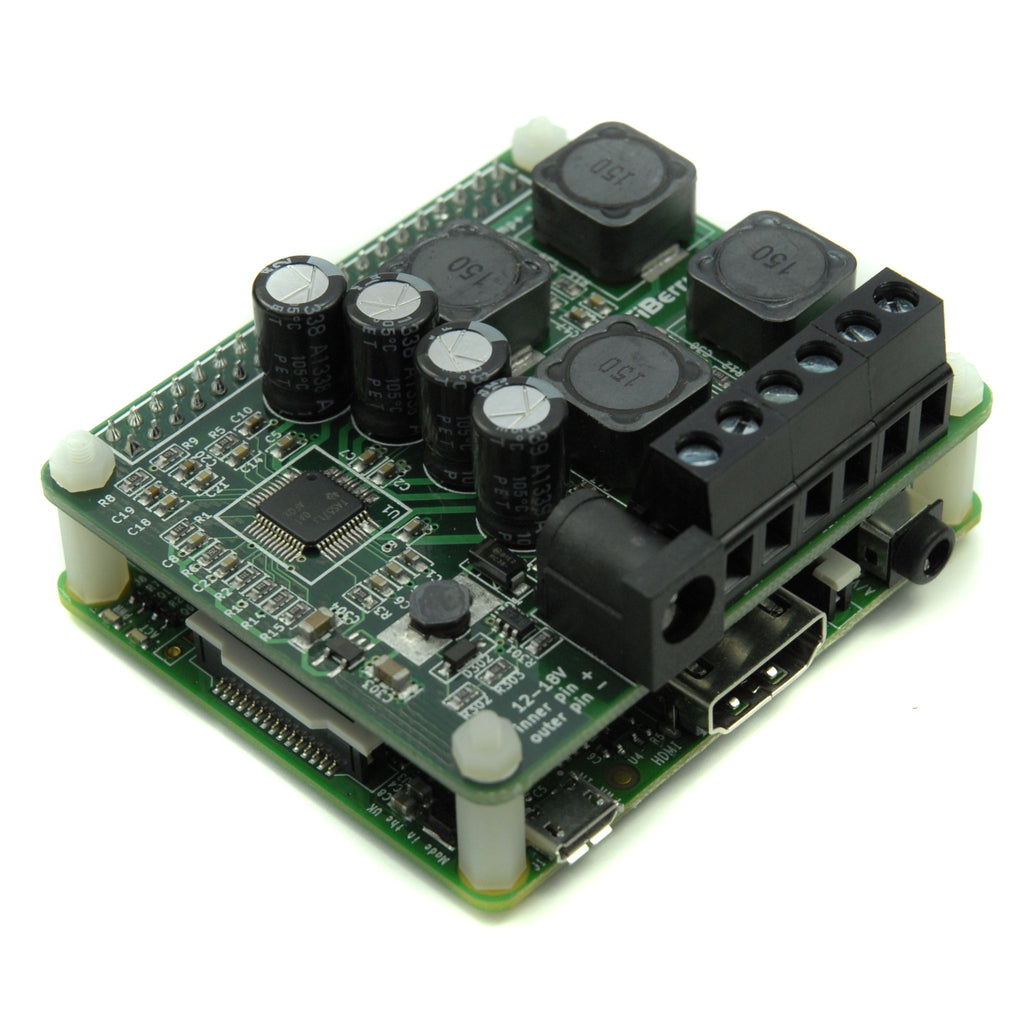 HiFiBerry Amp+ for Raspberry Pi A+, B+, 2 , 3 – Just connect your speakers