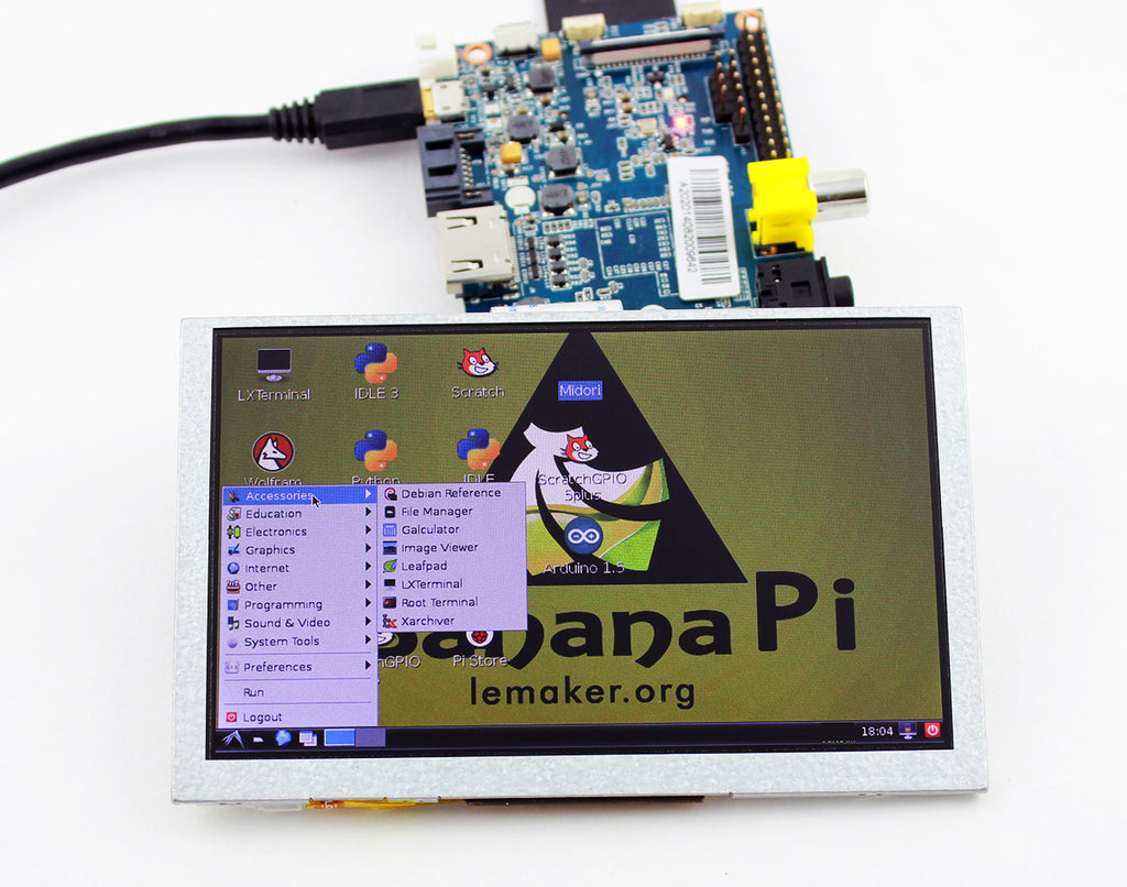 Banana Pi/Pro 5 inch RGB LCD Display